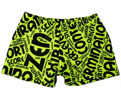 Words Highlighter Spandex Shorts
