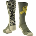 Yellow Ribbon Military Awareness Digi-Camo Crew Socks