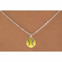 Yellow Softball Charm Necklaces