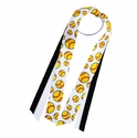 Yellow Softball Logo Ribbon Ponytail Streamers