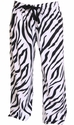 Zebra Stripe Flannel Lounge Pants w/ Sport Print on Rear