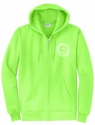 Smiley Face Volleyball Design Zip-Up Hoodie - in 4 Hoodie Colors