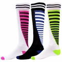 Zipper Stripe Knee High Socks - 10 Color Options