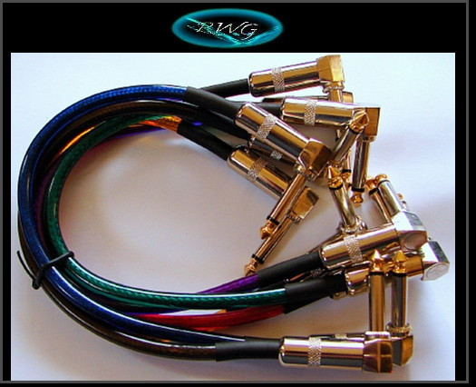 1 Foot Heavy Duty Gold Tip Patch Cables, Angled