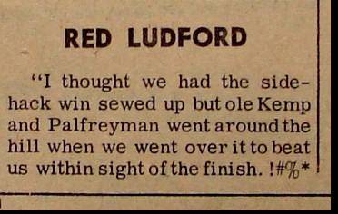 1961 BIG BEAR QUOTES: RED LUDFORD