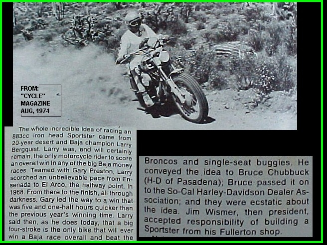 1972 BAJA 1000 - WORLDS BIGGEST DIRTBIKE