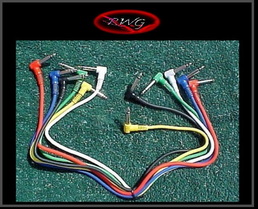 1 Set of Proline 2 Foot Patch Cables Angled