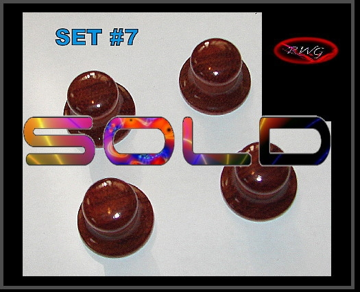 4 Cherry Wood Bell Electric guitar knobs Set #7