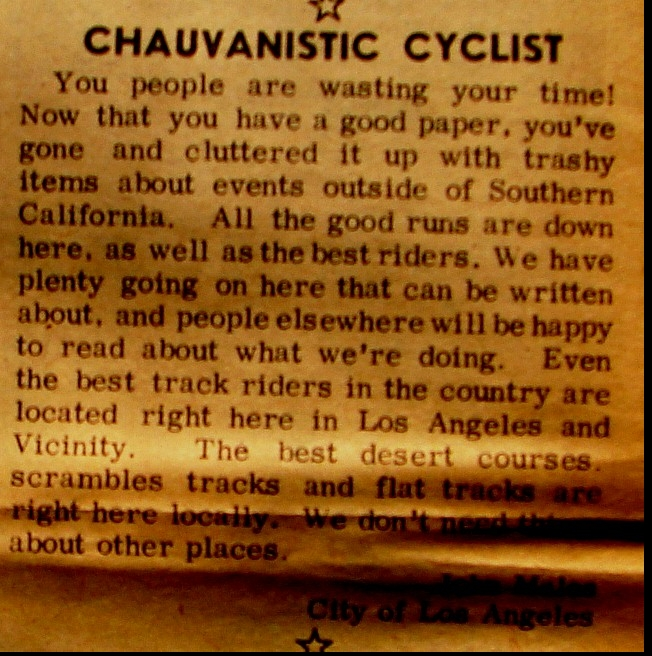 CHAUVANISTIC CYCLIST 1960