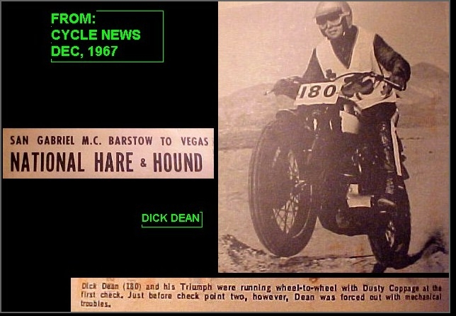 Dick Dean 1st B to V