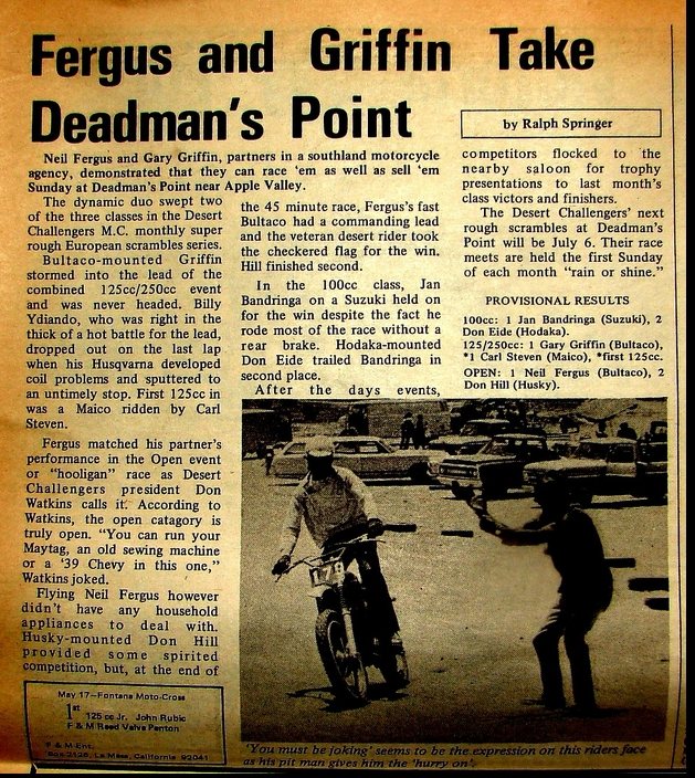 FERGUS AND GRIFFIN 1969