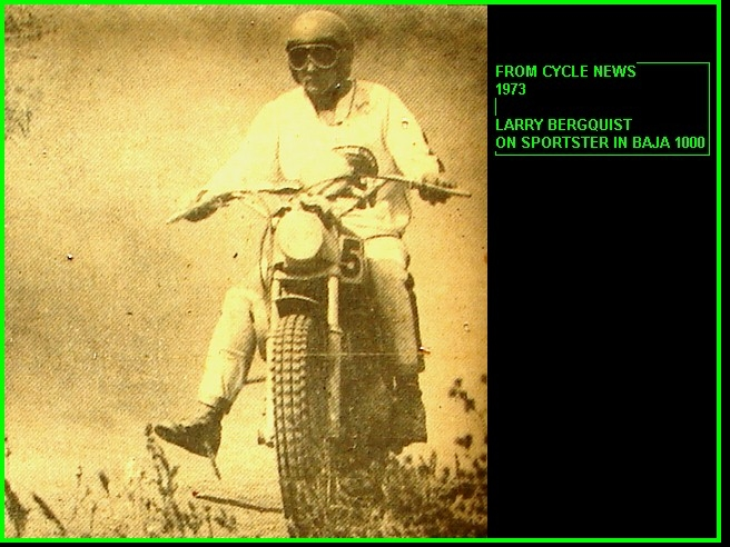 LARRY ON SPORTSTER BAJA 1000