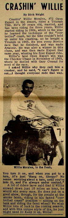 MEET THE RACER WILLIE MORALES 1967