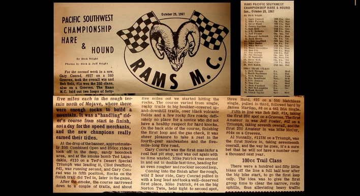 RAMS 1967 PACIFIC SOUTHWEST CHAMPIONSHIP