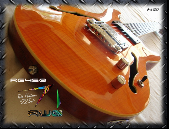 RM450 FULL HOLLOW 24 FRET AMBER FLAME #6-950
