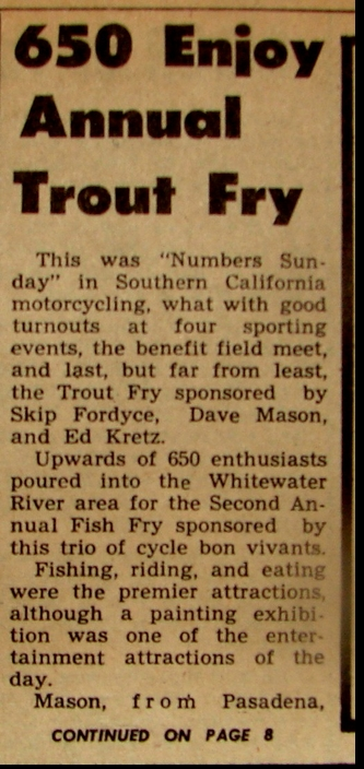TROUT FRY 1960