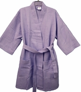 "36"" Length Cotton Waffle Robe  Lavender"