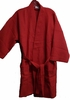 "36"" Length  Cotton Waffle Robe, Red"