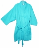 "36"" Length Cotton Waffle Robe, Tropical Blue"