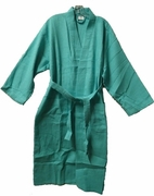 "48"" Length Cotton Waffle Robe Caribbean Green"
