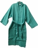 "48"" Length Cotton Waffle Unisex  Robe Caribbean Green"