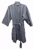 "48"" Length Cotton Waffle Unisex  Robe, Gray"