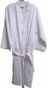 "48"" Length Cotton Waffle Robe  XXL  size  White"