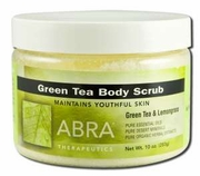 Abra Therapeutics Green Tea Tonic Body Scrub 10oz Jar