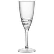 Acrylic Champagne Glass Swirl Pattern  Clear   6pc