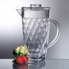 Acrylic Diamond-Cut 70 oz. Pitcher with Lid
