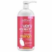 Alba Botanica Very Emollient Bath & Shower Gels Honey Mango 32 fl. oz.