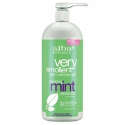 Alba Botanica Very Emollient Bath & Shower Gels Sparkling Mint 32 fl. oz.