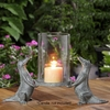Alligator Pair Hurricane Candleholder