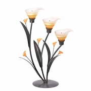 Amber Lilies Tea Light Holder