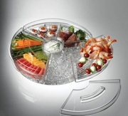 Appetizers On Ice  with Lids