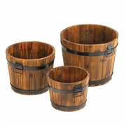 Apple Barrel Planter Trio  FREE SHIPPING