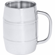 Beer Mug Arctic Blast 34oz Barrel-Shaped Stainless Steel