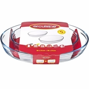 Arcuisine Borosilicate Glass Oval Roaster  2 PC. Set