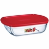 Arcuisine Square Dish with plastic lid 10X9X3  74.4 Ounces