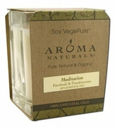 Aroma Naturals Soy Candle Large Square Glass Jar
