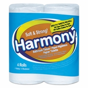 Atlas Paper Harmony Toilet Tissue, 2-Ply, White, 76 Sheets/Roll 24/4pks/Case
