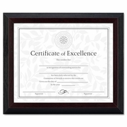 Award Certificate Frame,Solid Wood  Black with Walnut Molding 8 x 10