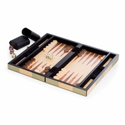 "Backgammon Set  Wood Inlay 12"" L"