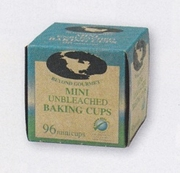 Baking Cups  Unbleached  Mini Size  96/box