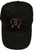 Ball Cap with Embroidered Double Female Symbol and Heart Black or Tan