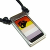 Bear Flag Pewter Pendant