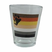 Bear Pride Flag Shot Glass  (reg or tapered )