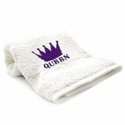 Bedroom Hand Towel Embroidered  QUEEN with Crown
