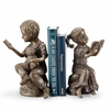 Bedtime Story Boy and Girl Bookends  FREE SHIPPING