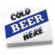 Beverage Napkins  Cold Beer Here    20 napkins/pkg